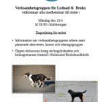 Informations-/diskussionsmöte Lydnad & Bruks – inställt