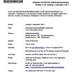Inbjudan officiell rallylydnadstävling 3 september